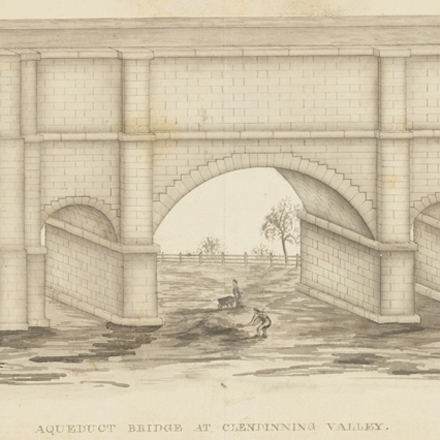 F. B. (Fayette Bartholomew) Tower. Aqueduct Bridge at Clendinning Valley. ca. 1842. Museum of the City of New York. 2002.35.3