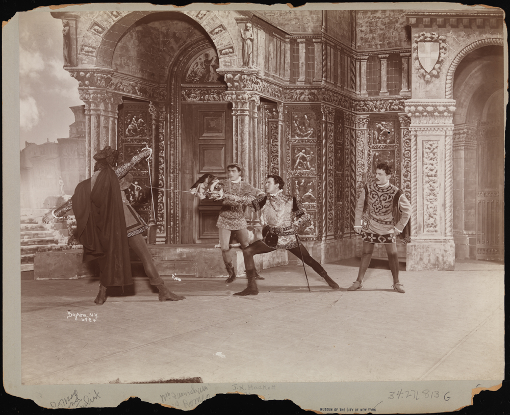 Byron Company. [James K. Hackett as Mercutio fights Campbell Gollan's Tybalt] 1899. Museum of the City of New York. 34.271.813G