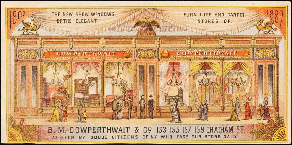B.M. Cowperthwait & Co. trade card, 1882