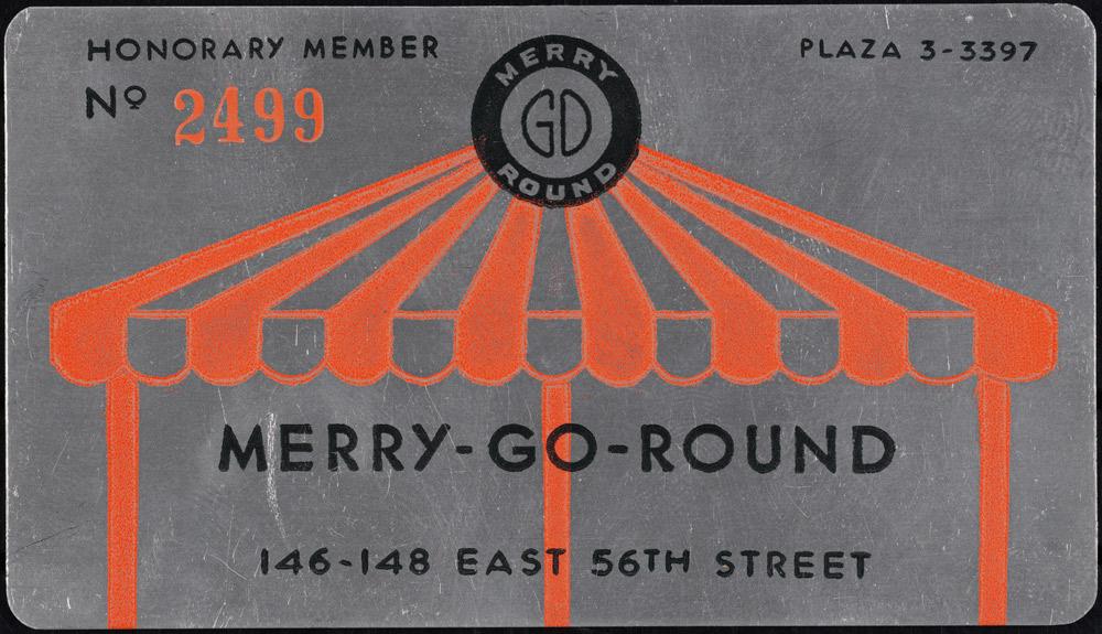 Merry-Go-Round membership card