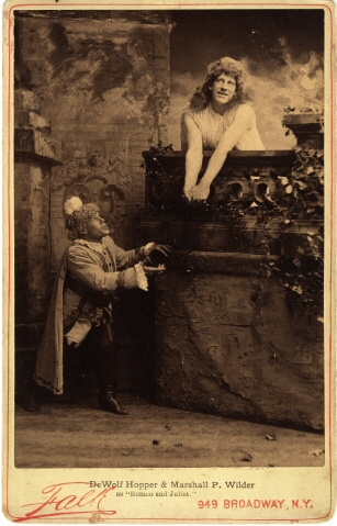 B. J. (Benjamin J.) Falk. [DeWolf Hopper and Marshall P. Wilder in Romeo and Juliet] ca. 1893. Museum of the City of New York. 39.124.47