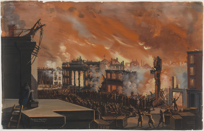 Nicolino Calyo (1799-1884). Burning of the Merchants' Exchange, New York, December 16th &17th, 1835. 1835. Museum of the City of New York. 52.100.7