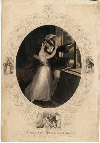 Lithograph by John Tallis & Company. [[Charlotte and Susan Cushman in Romeo and Juliet.] ca. 1850. Museum of the City of New York. 61.25.4
