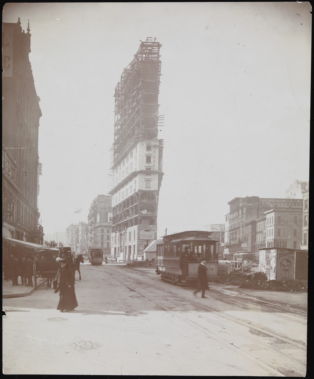 Byron Company. Buildings, Times Building Under Construction, ca. 1903. Museum of the City of New York. 93.1.1.16687