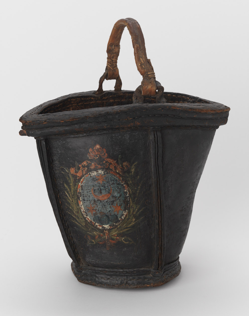 Leather fire bucket from the 18th Century