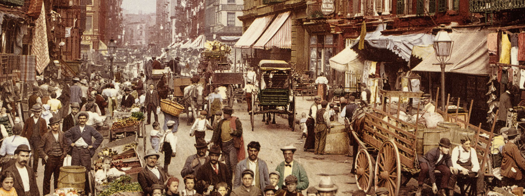 Artist rendering of Mulberry St c.1900