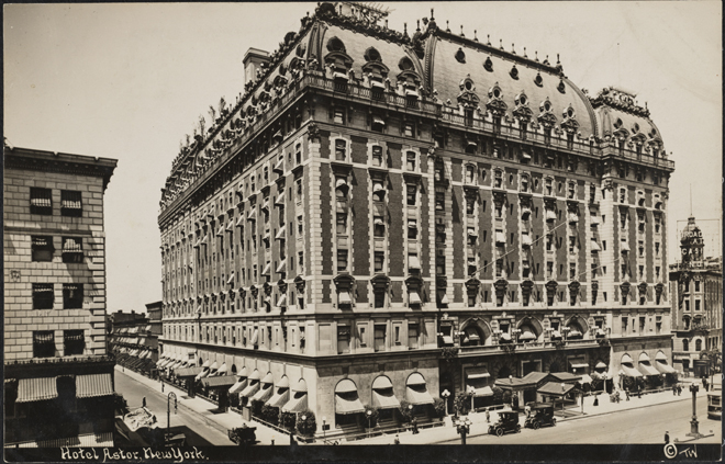 Thaddeus Wilkerson (1872-1943). Hotel Astor, New York, ca. 1910. Museum of the City of New York. F2011.33.420