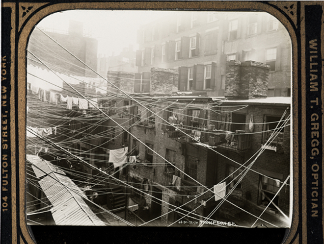 Thompson Street Clotheslines. Jacob A. (Jacob August) Riis (1849-1914). ca. 1895, Museum of the City of New York. 90.13.2.213