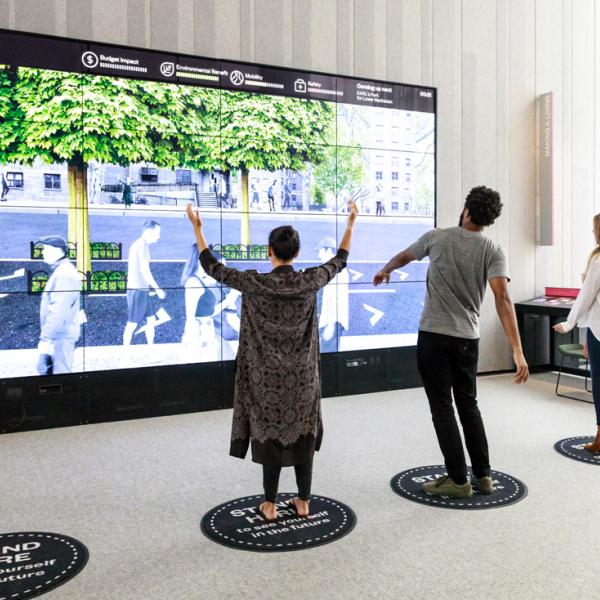 A photo taken by Christiane Patic of the museum's creation wall in the Future City Lab.