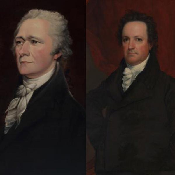 A photo of DeWitt Clinton and Alexander Hamilton (1799-1808).