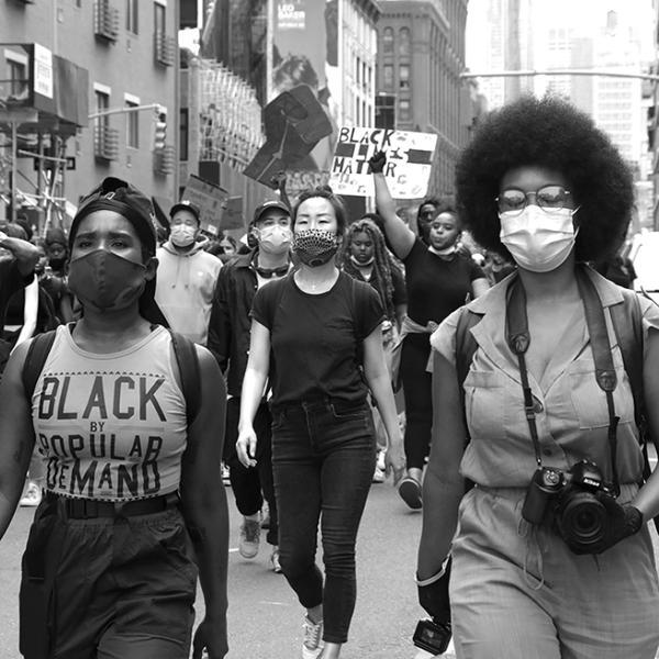 Janette Beckman, Demostración de Black Lives Matter, Nueva York, junio de 2020