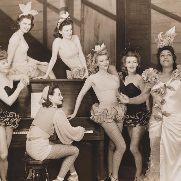 The female cast members from My Dear Public pose for a photograph