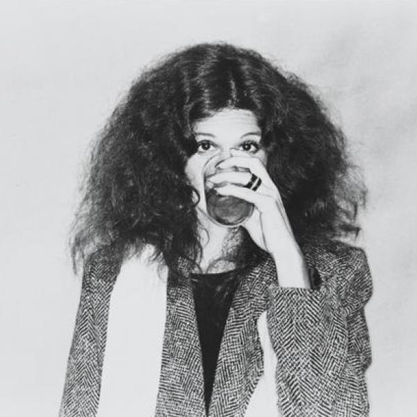 "A photo by an unknown photographer of [Gilda Radner in ""Gilda Radner- Live From New York""] in 1979."