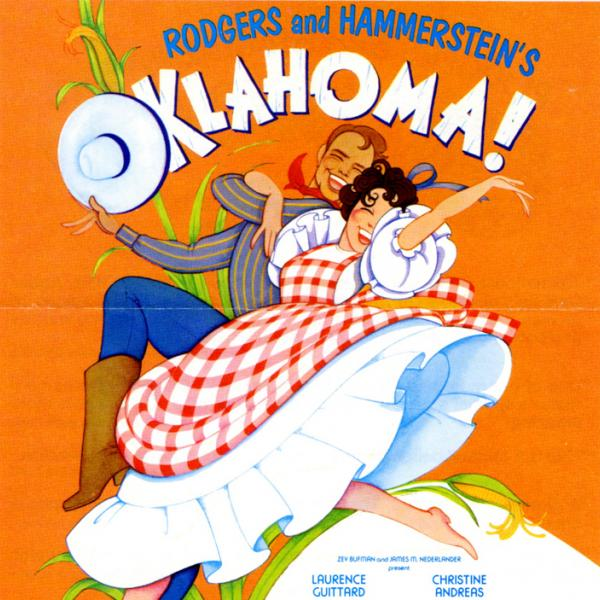 A museum photo of a 1979- 1980 Flier for Oklahoma! theatrical performance.