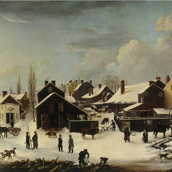 Louisa Ann Coleman, Winter Scene in Brooklyn, New York, 1817-1820, 1853. Museum of the City of New York. 53.2.