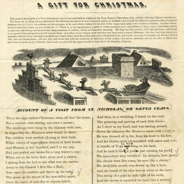 N. Tuttle. Account of a visit from St. Nicholas, or Santa Claus. Museum of the City of New York. 54.331.17