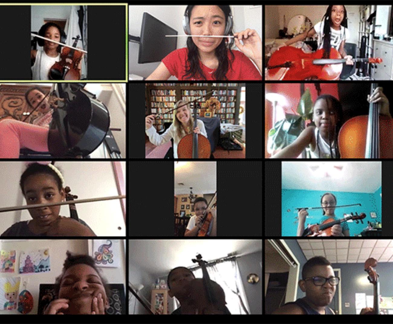 enfants en classe virtuelle