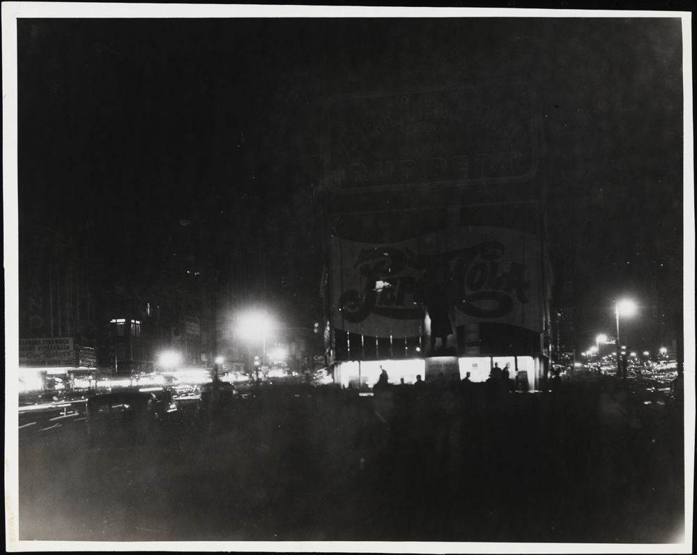 J.G. Suter (no dates). Gone but Not Forgotten. [Times Square during Dim-out.], ca. 1945. Museum of the City of New York. X2010.11.4013