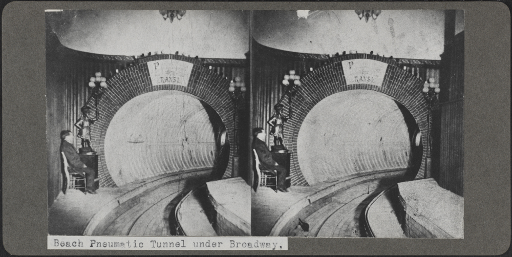 Alfred C. Loonam. Beach Pneumatic Tunnel Under Broadway, ca. 1870. Museum of the City of New York. X2010.26.126
