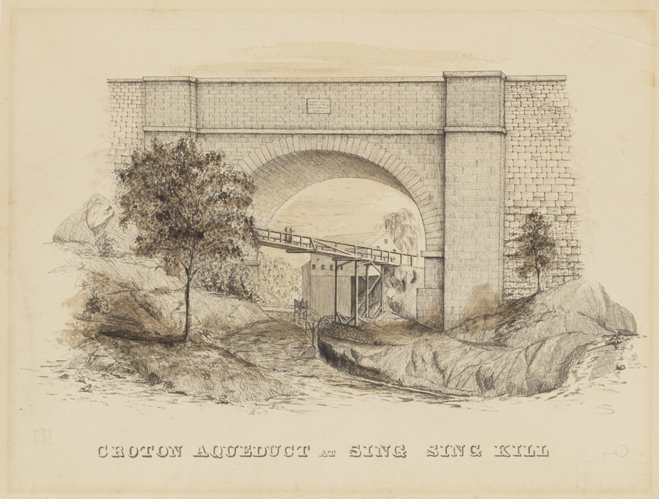 F. B. (Fayette Bartholomew) Tower. Croton Aqueduct at Sing Sing Kill. ca. 1842. Museum of the City Of New York. 2002.35.10