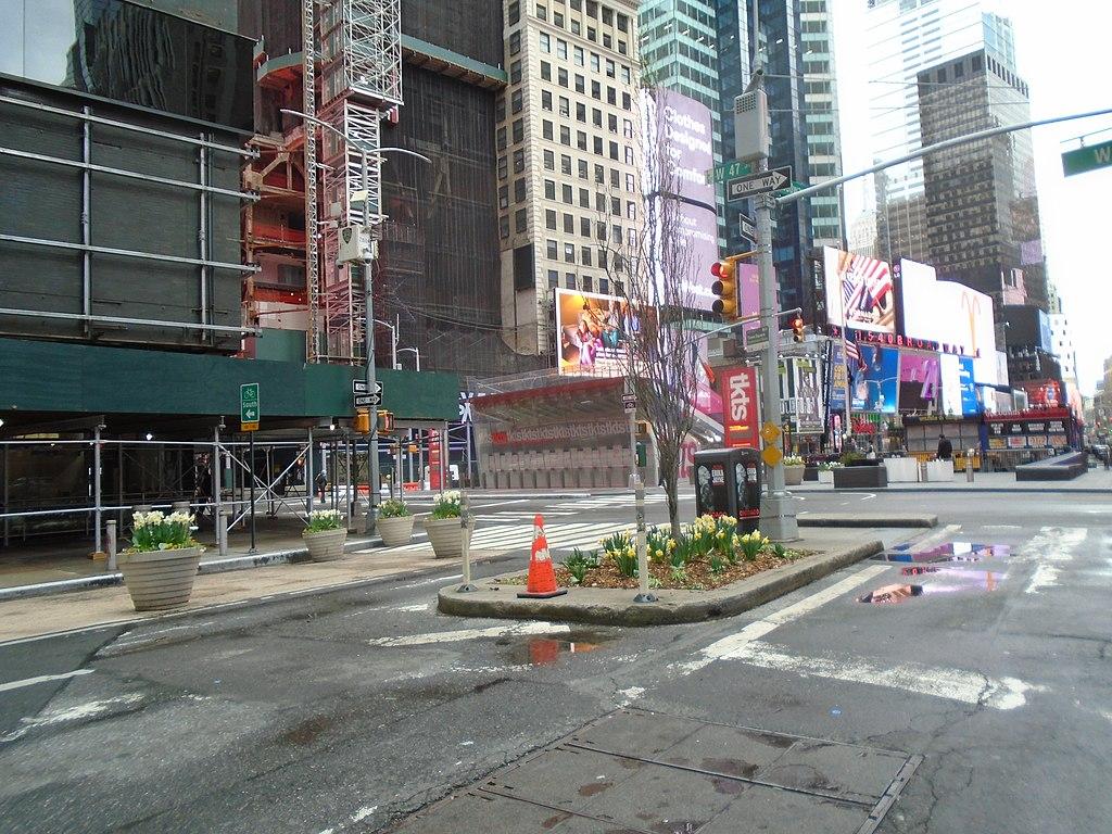 Rua vazia - Times Square