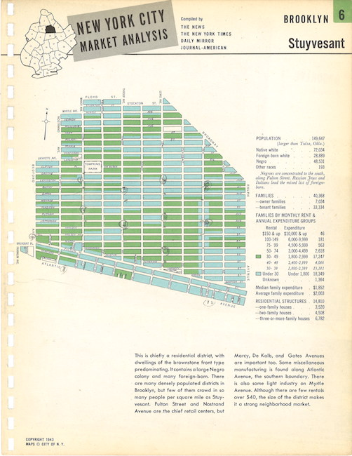 Map of Bed-Stuy in the 1940s.