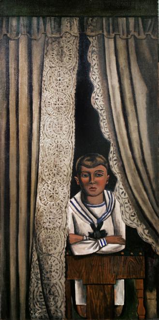 Louis Bouché (1896-1969). Niño de mamá, c. 1920. Óleo sobre lienzo. Donación de la herencia de Jane Bouché. Museo y Asociación de Artistas de Woodstock.