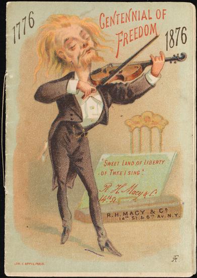 "["" RH梅西百货公司的""百年纪念,1776-1876年""广告""]"