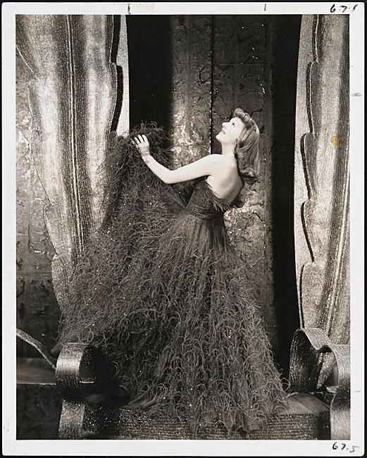 "Photograph by Vandamm of Gertrude Lawrence in the role of Liza Elliott for the musical ""Lady in the Dark."""