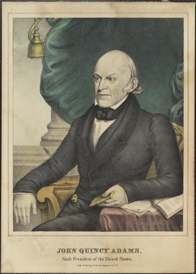 1837 년 John Quincy Adams의 N. Currier의 박물관 사진.