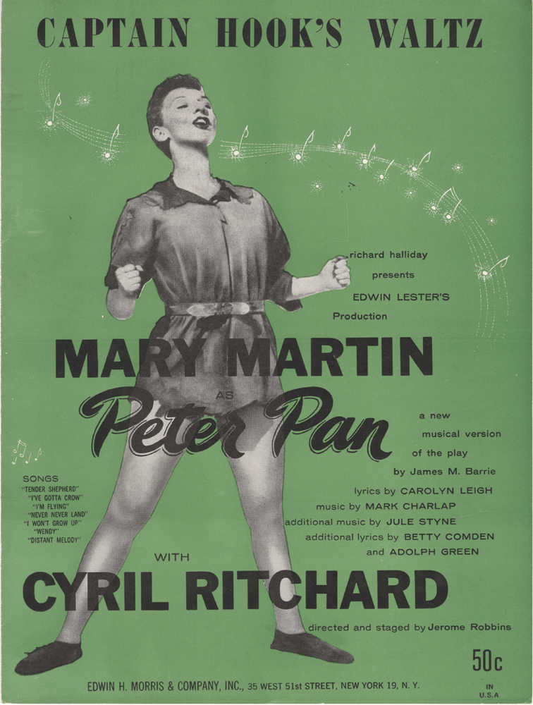 "Sheet music for ""Captain Hook's Waltz"" from ""Peter Pan"", 1954. Museum of the City of New York. 70.22.123D"