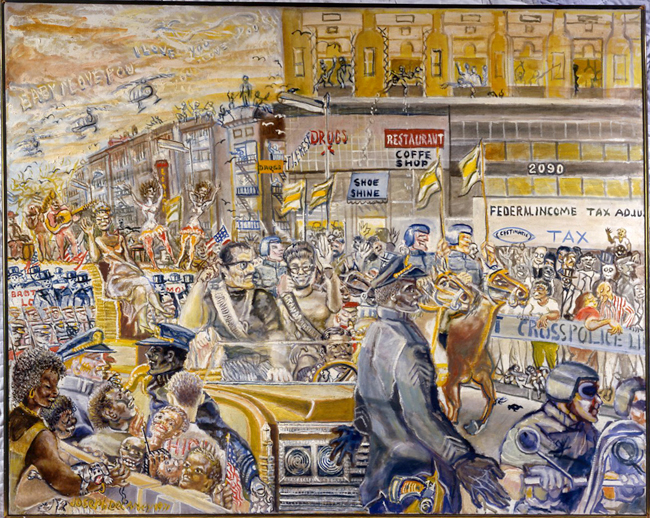 Joseph Delaney (1904-1991). Desfile de Harlem