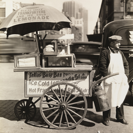 Berenice Abbott (1898-1991). Hot Dog Stand, April 8, 1936. Museum of the City of New York. 40.140.147