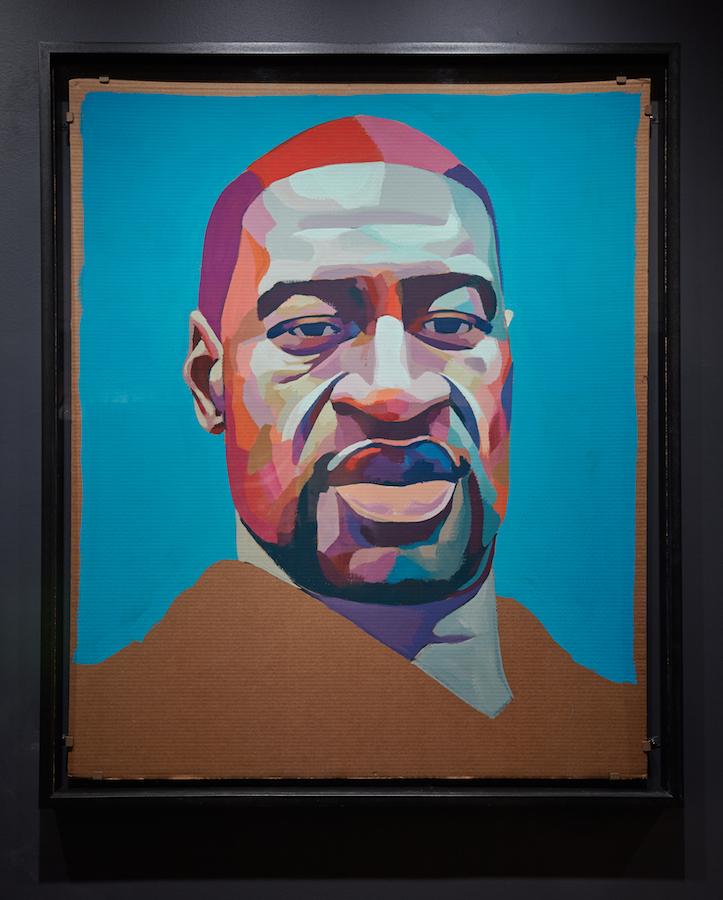 Retrato de George Floyd