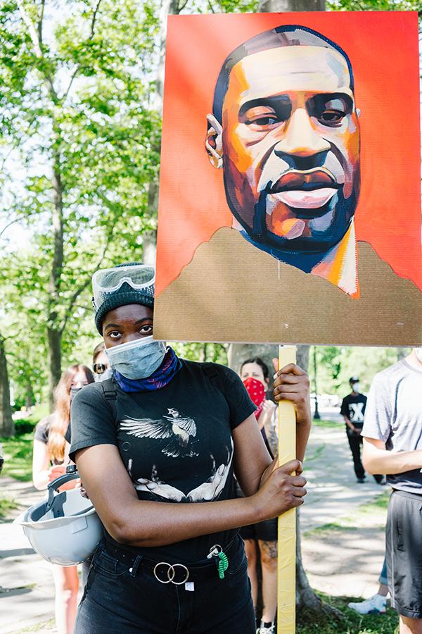 「ジョージ・フロイドの正義」、活動家NYCの作成者、シンディ・トリン