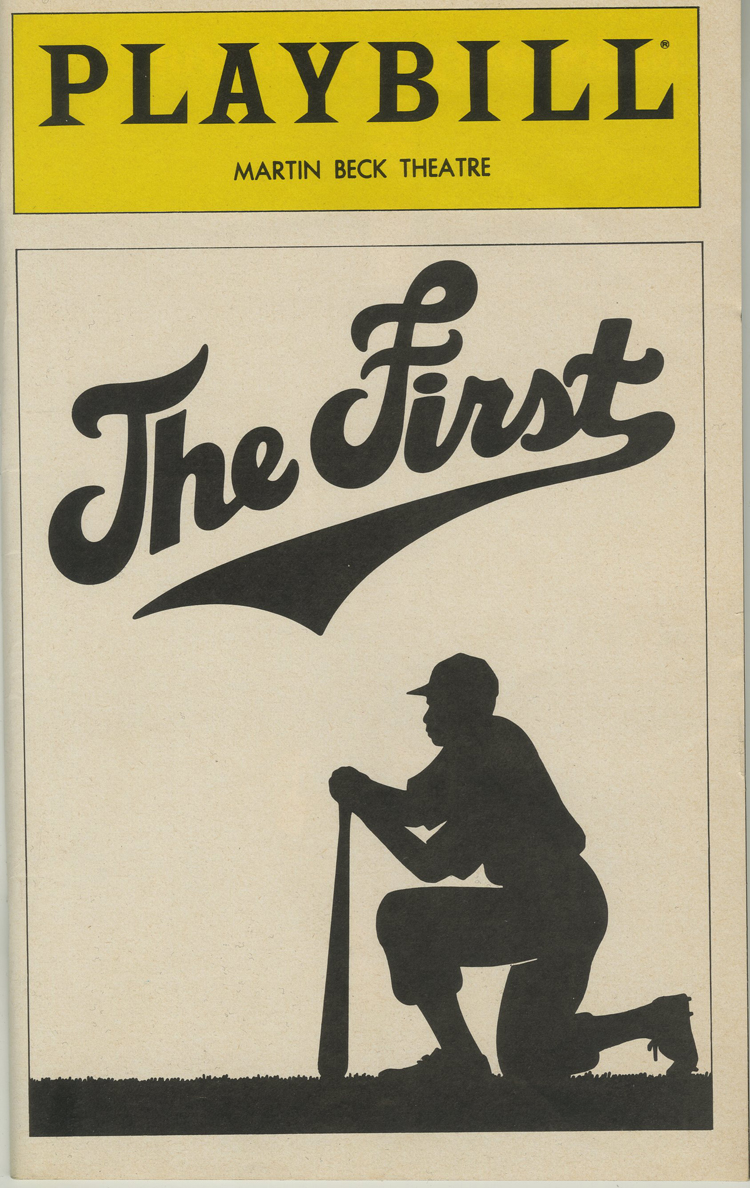 Programme de théâtre Playbill pour The First, 1981 au Martin Beck Theatre.