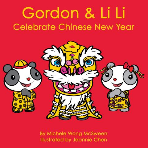 Capa do livro de Gordon & Li Li Comemore o Ano Novo Chinês.