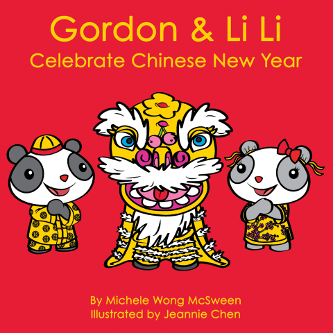 Gordon & Li Li의 책 표지는 춘절을 축하합니다.