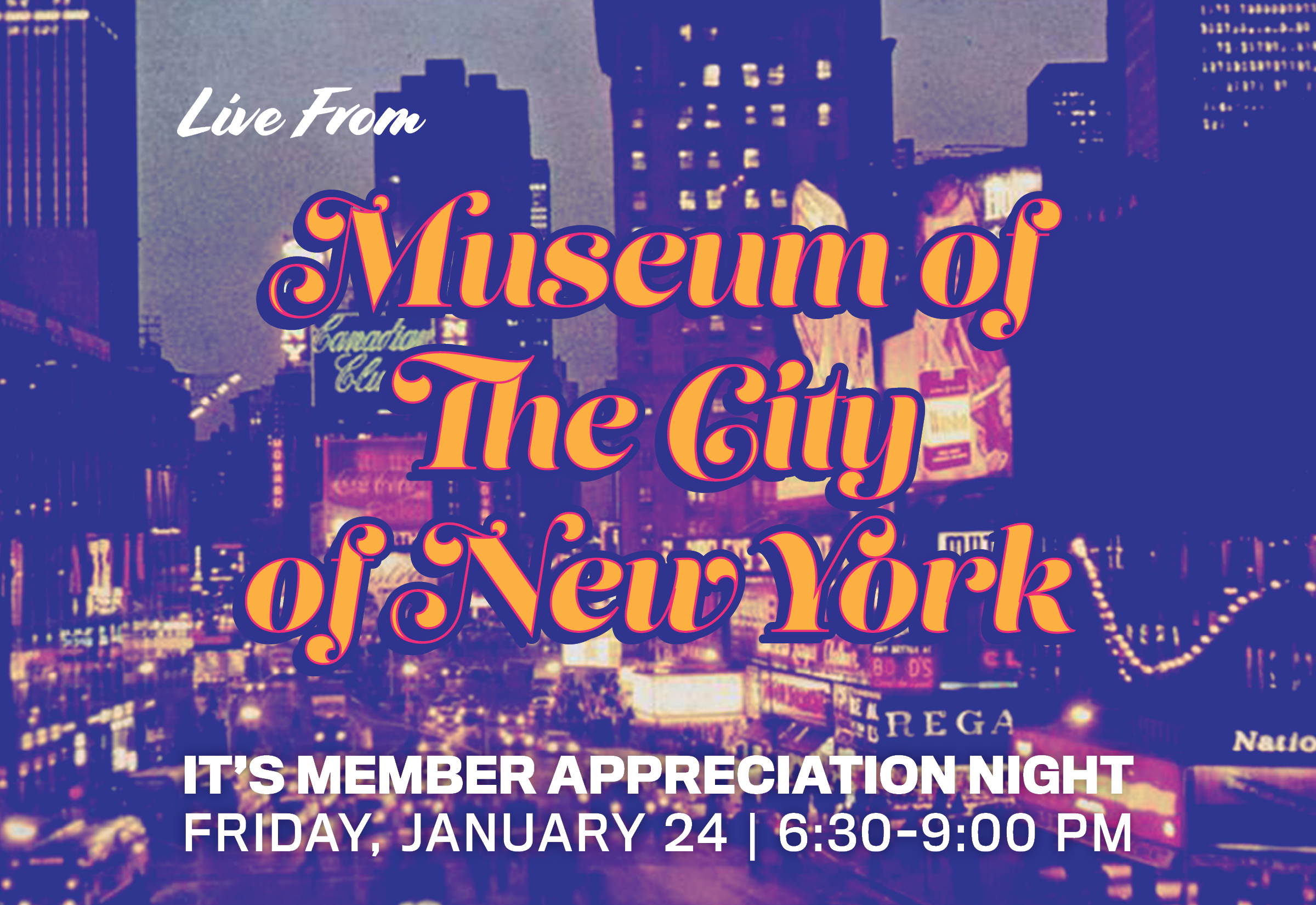 Junte-se a nós na noite de agradecimento aos membros!