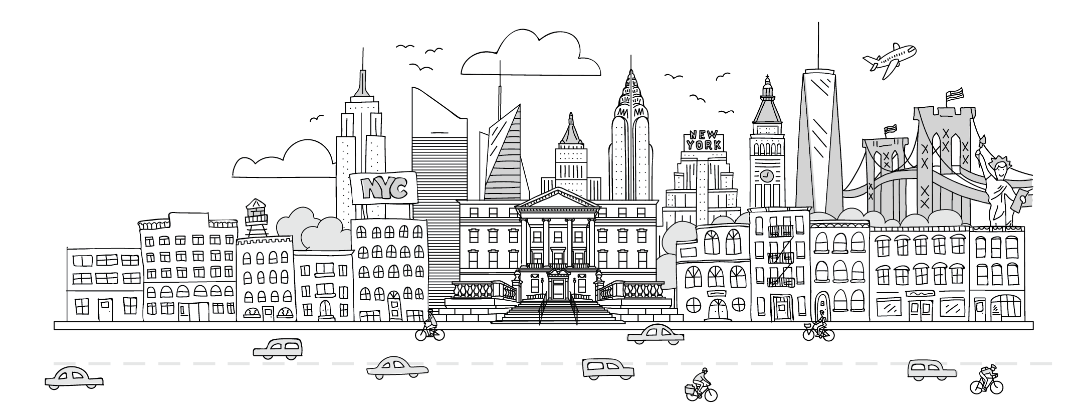 illustration of NYC skyline