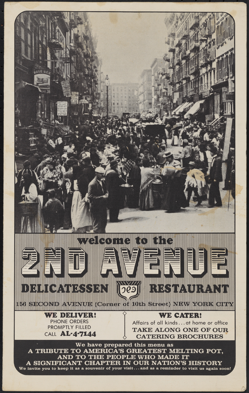 2nd Avenue Delicatessen and Restaurant. 1968. Museu da cidade de Nova York. F2014.18.1