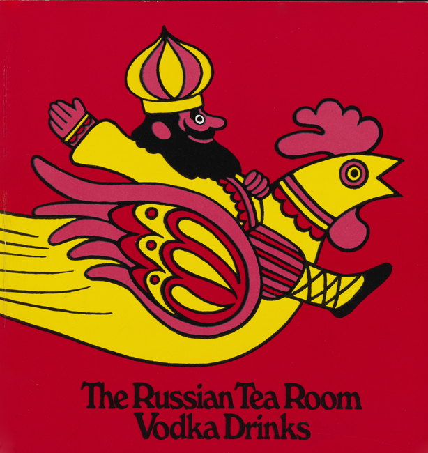 Cover of vodka drinks menu of the Russian Tea Room.