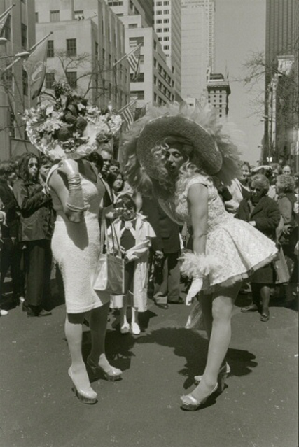 A museum photo by Edwin Martin of a 1998, Easter Parade.