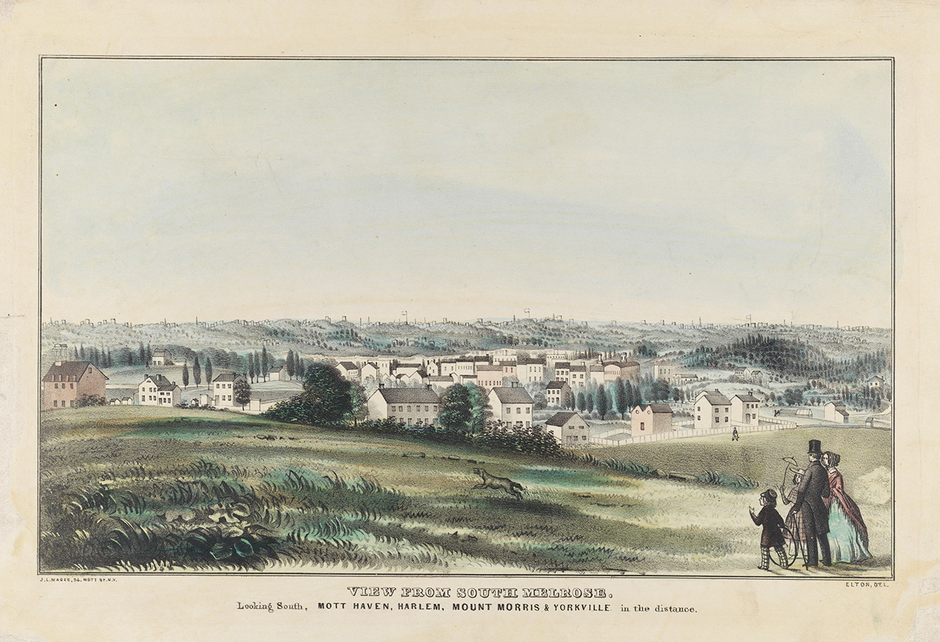 The view from South Melrose c 1850
