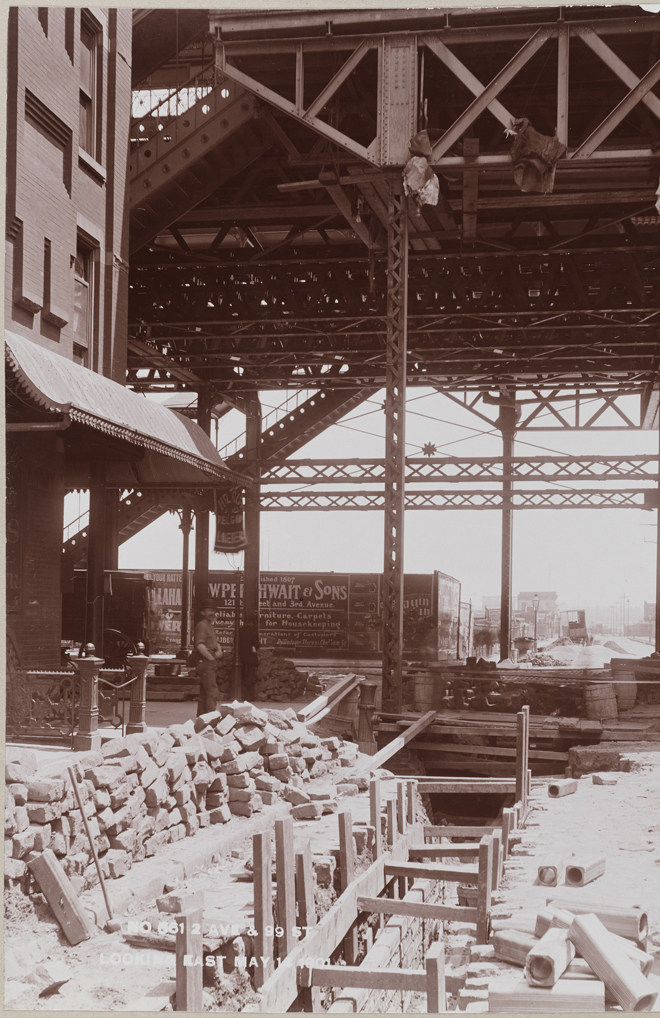 Manhattan Railway Company. 2 Ave & 99 St Looking East, 1901. Museum of the City of New York, F2012.53.127C
