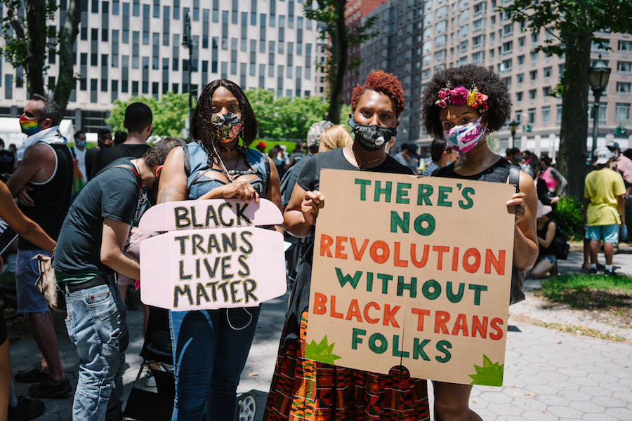 The Queer Liberation March for Black Lives and Against Police Brutality.