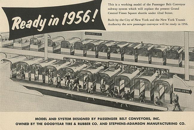 """以""""传送带上的乘用车插图""""为标题的题为"""" 1956年就绪!""""的小册子"""