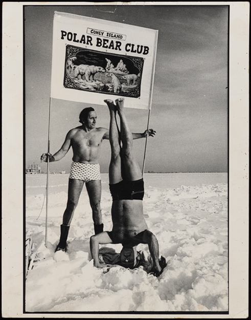 Nancy Rudolph (1923-2017). [Alexander Mottola, president of the Coney Island Polar Bear Club.] 1964-1984. MCNY. X2010.11.14607