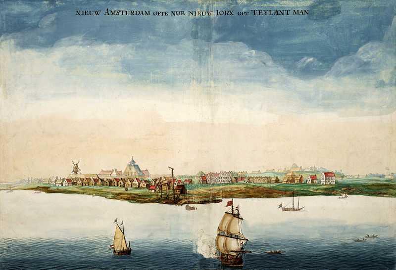 新阿姆斯特丹的图象从港口的。