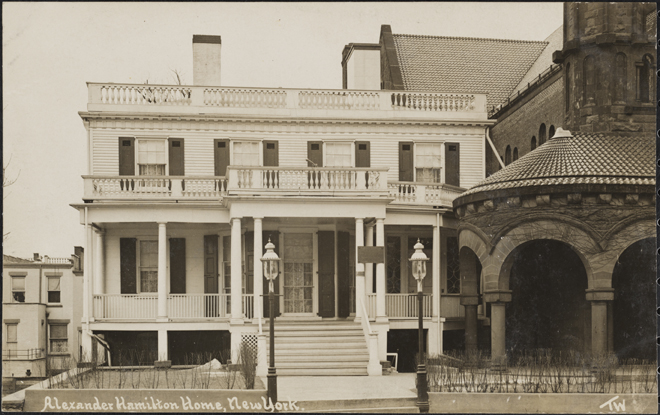 Alexander Hamilton House, New York. ca. 1910